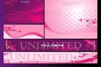 美容化妆品广告招牌背景模板