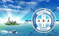 远航世界商务概念PSD分层模板