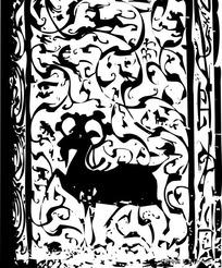 汉代陕西绥德墓室雕刻吉祥图