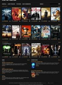 电影网站界面设计HTML(CSS)模板