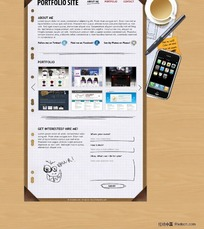 个性网页界面设计模板psd分层素材