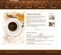 咖啡主题网站界面设计HTML(CSS)模板