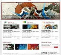 一款设计类网站界面设计HTML(CSS)模板