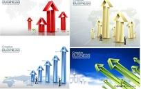 商务数据箭头商业海报矢量图