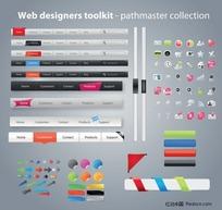 实用的网页设计工具包矢量素材四