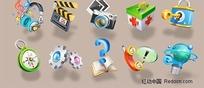 3D质感图标系列矢量素材-1