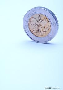 港币硬币特写