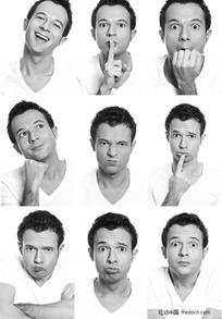 外国男人表情