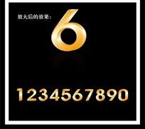 立体金属数字