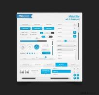 清新实用的web设计元素psd分层素材