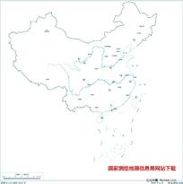 2000万示意地图版10(省会无图廓)
