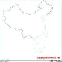 2500万示意地图版2(海岸线无图廓)