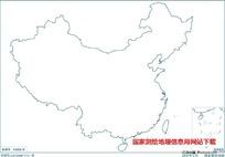 2500万示意地图版4(海陆同线无图廓南海诸岛)