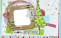 圣诞个性相框psd背景素材
