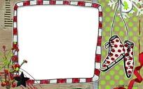 圣诞节个性相框psd设计