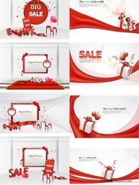 销售打折促销活动海报矢量图