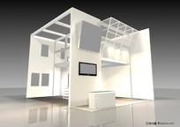 半角式展示展台展柜设计