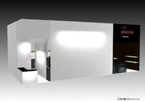 黑白底展柜展台设计