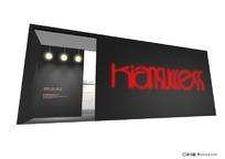 黑色全封闭式展示展台展柜设