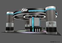 环岛式展示展台展柜设计