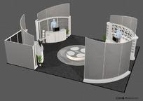 环岛展示展台展柜设计