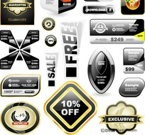 网页商业图标模块设计矢量素材