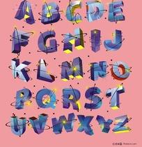 矢量立体26个字母