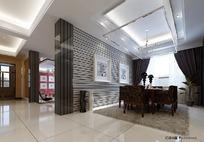 家装 餐厅_1(包括模型 材质 灯光 贴图)