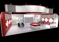 展览展台展柜展示空间红白相间