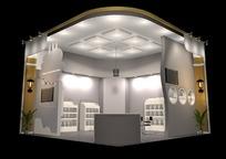 单角式展览展台展柜展示空间