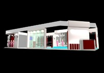 单面式展览展台展柜展示空间