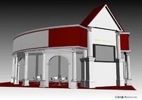 环岛式展览展台展柜展示空间