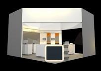 展览展台展柜展示空间单角式