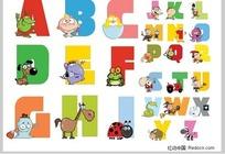 卡通英文字母表