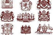 欧式复古纹样花纹设计矢量图