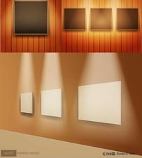 室内空间墙面背景矢量素材