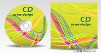 动感弧线CD背景矢量图