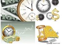 时间与金钱商务背景矢量素材
