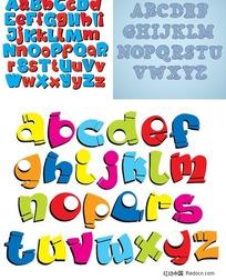 创意英文字母设计矢量素材