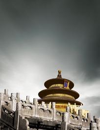 古典中国皇家建筑天坛PSD分层模板