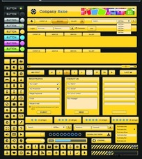 网页设计元素矢量图