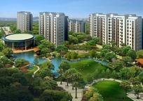 小区住宅楼盘景观设计PSD分层素材