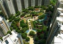 小区住宅楼园林设计PSD分层素材