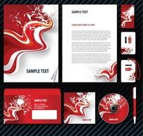 红色动感企业VI手册系列设计模板