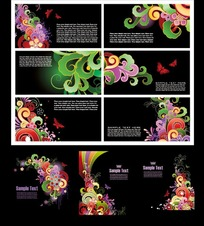 黑色超炫的花纹背景设计