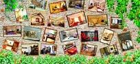 装饰公司室内效果图案例展示墙设计模板
