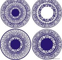青花瓷花纹图案