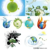 8款地球矢量素材