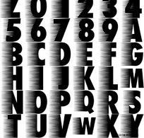速度型英文字体设计矢量素材