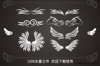 天使和恶魔的翅膀精品矢量图